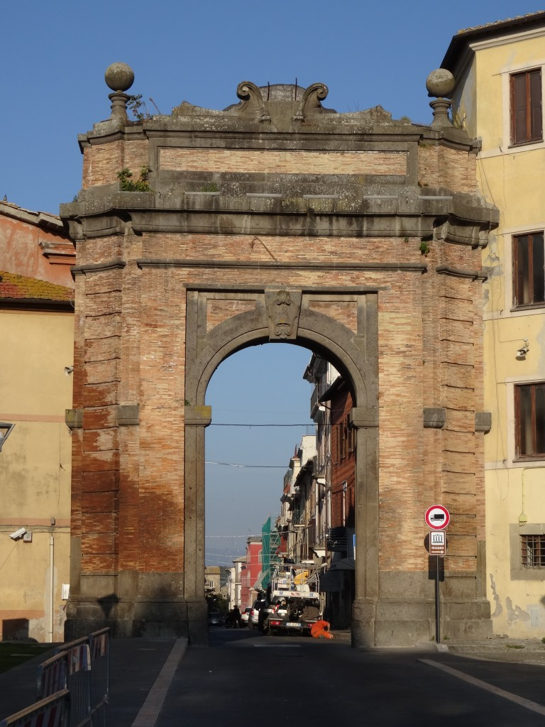 The ancient gate to Campagnano di Roma